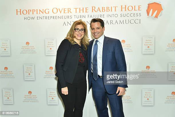 Susan Scaramucci Mandato and Anthony Scaramucci attend 'Hopping Over the Rabbit Hole' Anthony Scaramucci Book Party on October 27 2016 in New York...