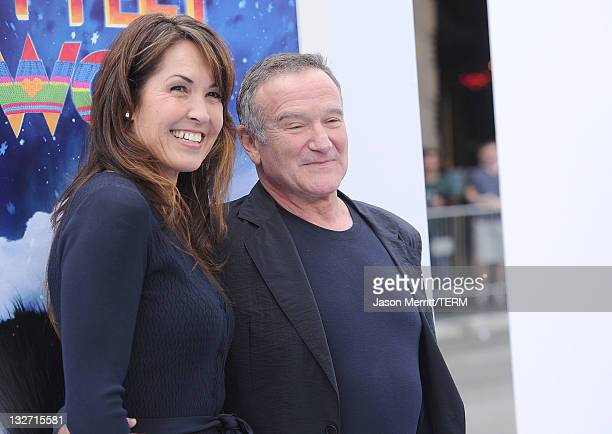 Susan Schneider and actor Robin Williams attend the Premiere of Warner Bros. Pictures' 'Happy Feet Two' at Grauman's Chinese Theatre on November 13,...