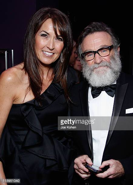 Susan Schneider and Robin Williams attend the Audemars Piguet Green Room and Gift Suite during the 65th Annual Tony Awards at the Beacon Theatre on...