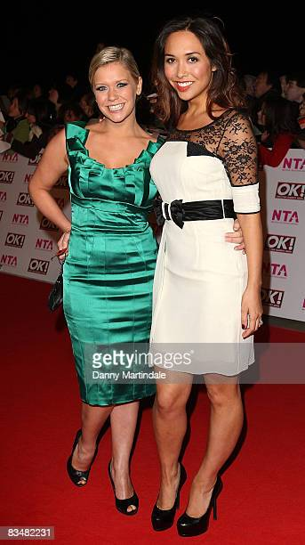 Susan Shaw and Myleen Klass attend the The National Television Awards 2008 in the Royal Albert Hall on October 29 2008 in London England