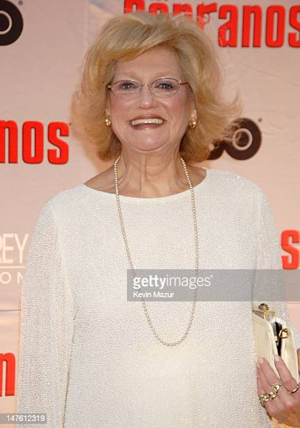 Susan Sheppard during The Sopranos Final Season World Premiere Red Carpet at Radio City Music Hall in New York City New York United States