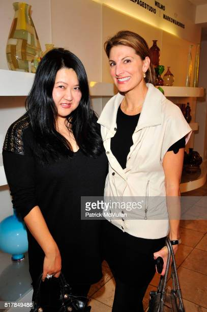 Susan Shin and Blair Clark attend SUITE New York's Pink Wishbone Project at Barney's on October 7th 2010 in New York City