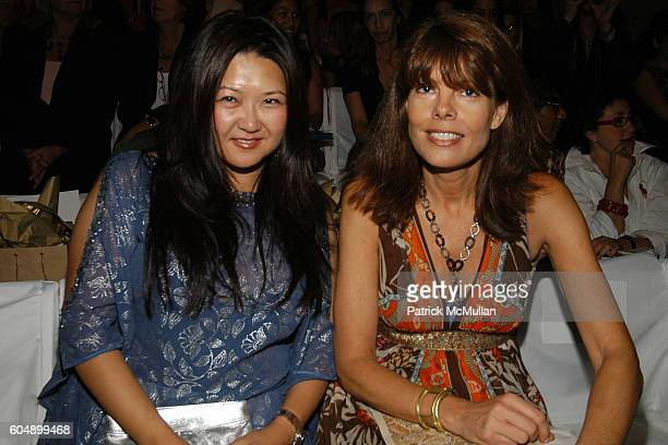 Susan Shin and Pam Taylor attend NICOLE MILLER Spring 2007 Fashion Show at The Promenade at Bryant Park on September 8 2006 in New York City