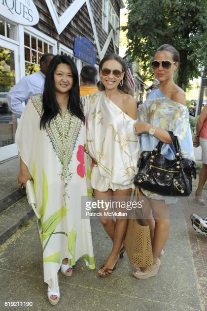Susan Shin Beata Bohman and Martha Skoglund attend JOGO By POONEH Opening at Jogo on July 31 2010 in Bridgehampton NY