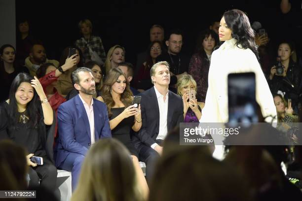 Susan Shin Donald Trump Jr Kimberly Guilfoyle Bill Hemmer and Marla Maples at the Zang Toi front row during New York Fashion Week The Shows at...