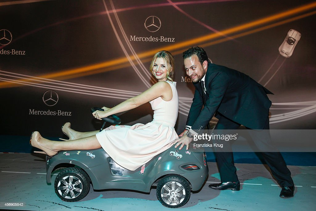Susan Sideropoulos and Jakob Shtizberg attend the Tribute To Bambi 2014 party on September 25, 2014 in Berlin, Germany.