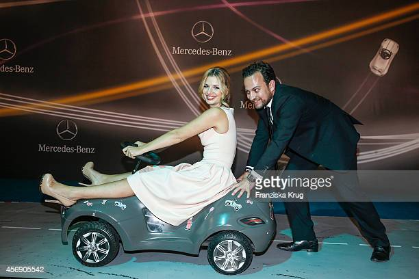 Susan Sideropoulos and Jakob Shtizberg attend the Tribute To Bambi 2014 party on September 25 2014 in Berlin Germany