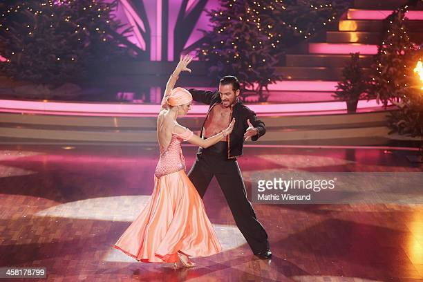 Susan Sideropoulos and Stefano Terrazzino attend the 'Let's Dance Let's Christmas' Show on December 20 2013 in Cologne Germany