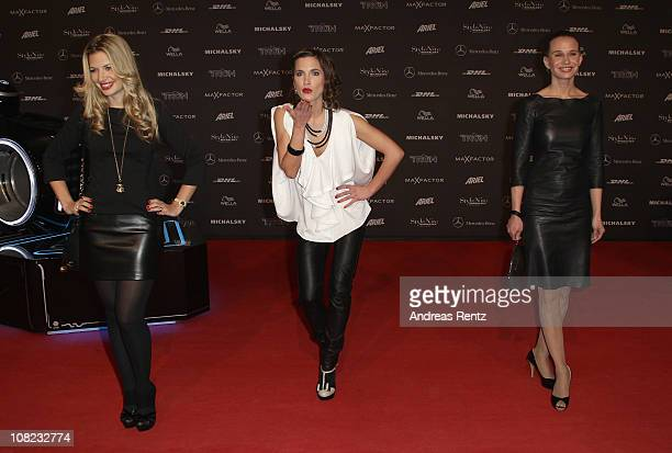 Susan Sideropoulos Isabell Horn and Nadeshda Brennicke arrive for the Michalsky StyleNite during the Mercedes Benz Fashion Week Autumn/Winter 2011 at...
