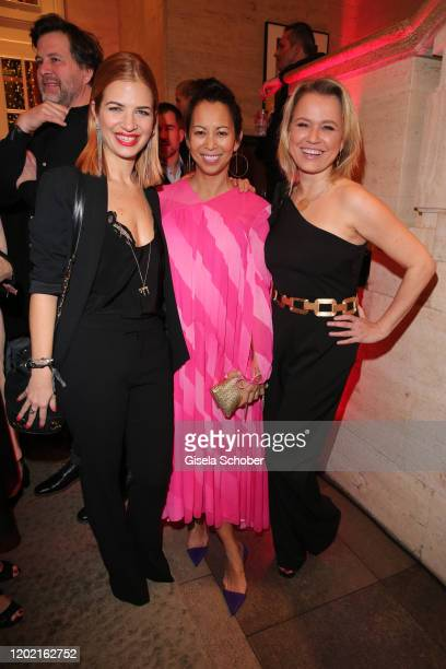 Susan Sideropoulos Minh Khai Phan Thi and Nova Meierhenrich attend the Berlin Opening Night by Bertelsmann Content Alliance at hotel Das Stue on...