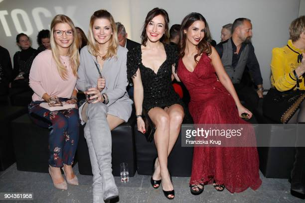 Susan Sideropoulos Nina Bott Maike von Bremen and Sila Sahin during the Rodenstock Eyewear Show on January 12 2018 in Munich Germany