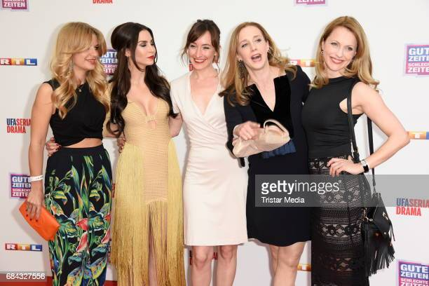 Susan Sideropoulos,Sila Sahin, Maike von Bremen, Kristin Meyer and Natalie Alison attend the 25th anniversary party of the TV show 'GZSZ' on May 17,...