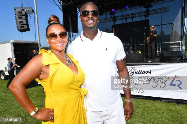 Susan Smallwood and former NY Giants wide receiver Plaxico Burress are seen at Grandiosity Events CigarsGuitars Charity PoloJazz charity event...