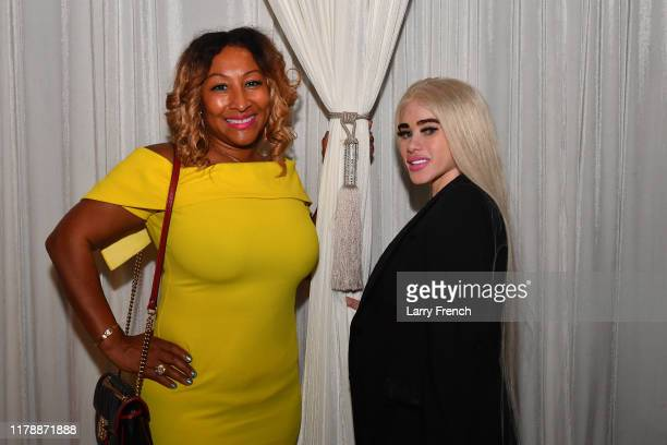 Susan Smallwood of Grandiosity Events and Donna Briggs are seen at Jamie Foster Brown's Sister2Sister DC Launch and MsGrandiosity's birthday...