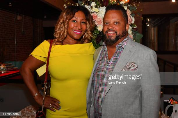 Susan Smallwood of Grandiosity Events and Mark Ellington are seen at Jamie Foster Brown's Sister2Sister DC Launch and MsGrandiosity's birthday...