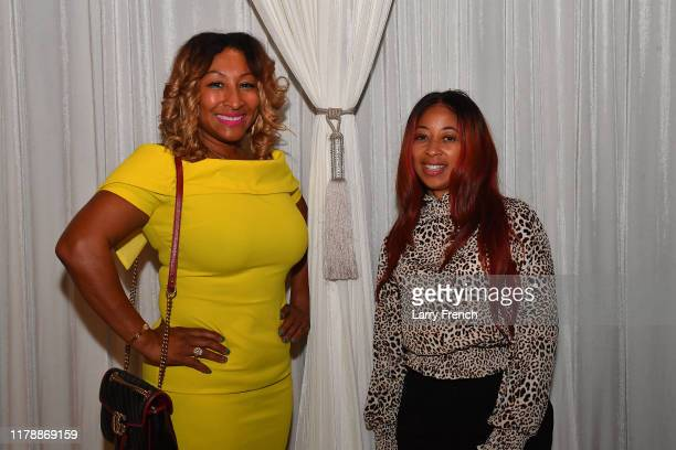 Susan Smallwood of Grandiosity Events is seen with Glenda Lee at Jamie Foster Brown's Sister2Sister DC Launch and MsGrandiosity's birthday...