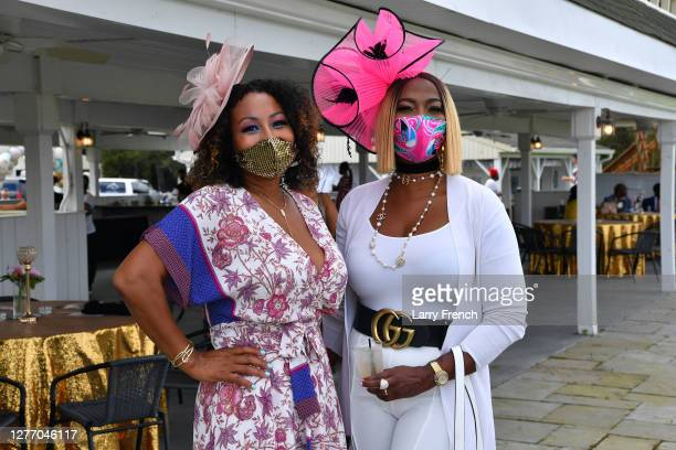 Susan Smallwood, producer of Grandiosity Events Cigars & Guitars Charity Polo & Jazz charity event and Vivian Agbakoba appear at Grandiosity Events...