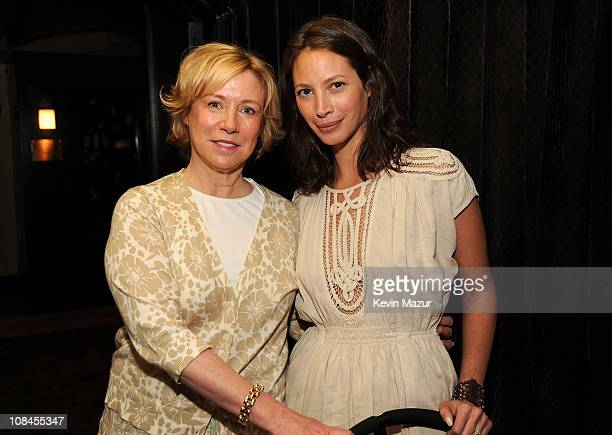 **EXCLUSIVE** Susan Smith Ellis CEO of and Model Christy Turlington attend an intimate Mother's Day brunch hosted by Christy Turlington Burns and at...