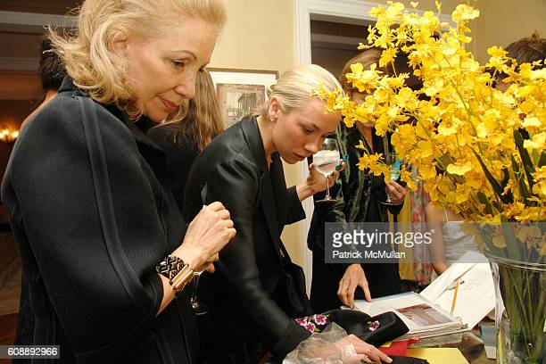 Susan Solomon and Emily Threlkeld attend Alexandra Lebenthal Maria Bartiromo Host Cocktails to Honor KIM HICKS at 17 E 96th St on November 19 2007 in...