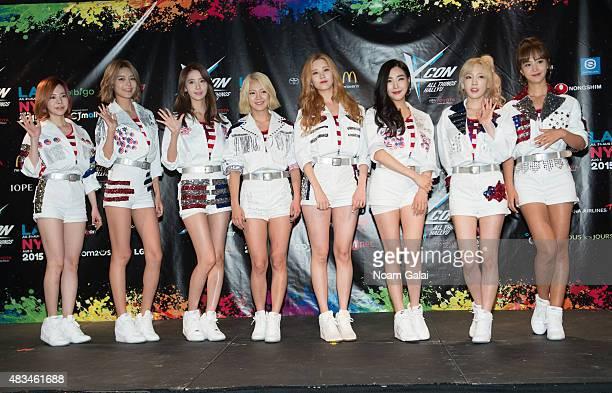 Susan Soonkyu Lee, Choi Soo-young, Im Yoona, Kim Hyo-yeon, Seo Ju-hyun, Tiffany Hwang, Kim Tae-yeon, and Kwon Yuri of Girls' Generation attend the...