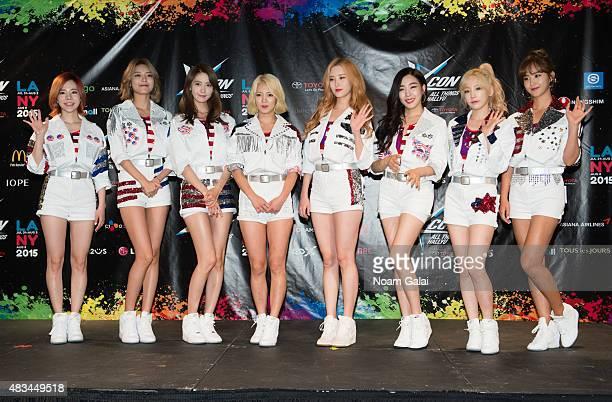 Susan Soonkyu Lee, Choi Soo-young, Im Yoona, Kim Hyo-yeon, Seo Ju-hyun, Stephanie Young Hwang, Kim Tae-yeon, and Kwon Yuri of Girls' Generation...