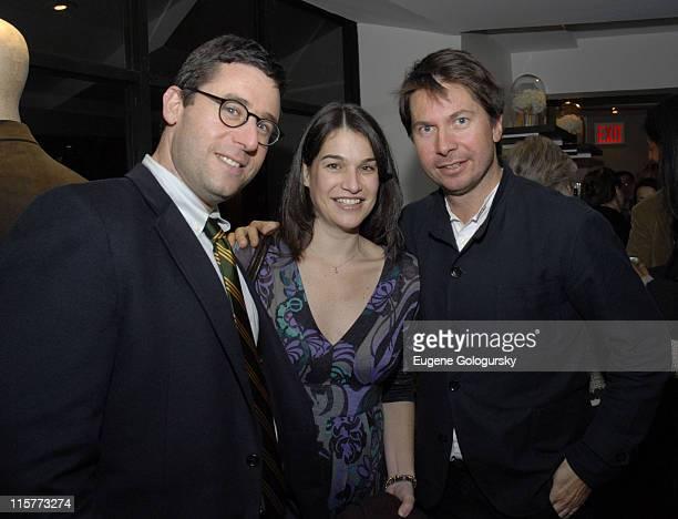 Susan Spencer, Oliver Spencer and guest during Oliver Spencer New York Store Opening at Oliver Spencer Store in New York City, New York, United...