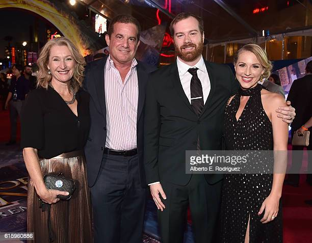Susan Spencer Robbins executive producers Charles Newirth and Stephen Broussard and Claire Broussard attend The Los Angeles World Premiere of Marvel...