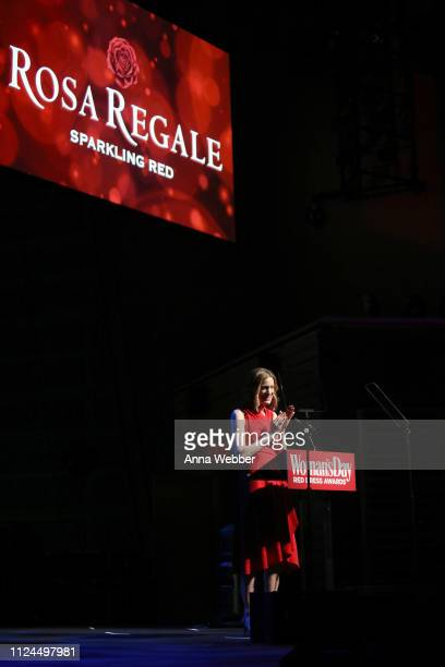 Susan Spencer speaks onstage during Woman's Day Celebrates 16th Annual Red Dress Awards on February 12 2019 in New York City