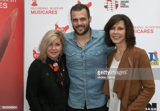 Susan Stewart Recording Artist Jackie Lee and MusiCares Debbie Carroll attend MusiCares Country Music Night at AJ's Good Time Bar on April 24 2018 in...