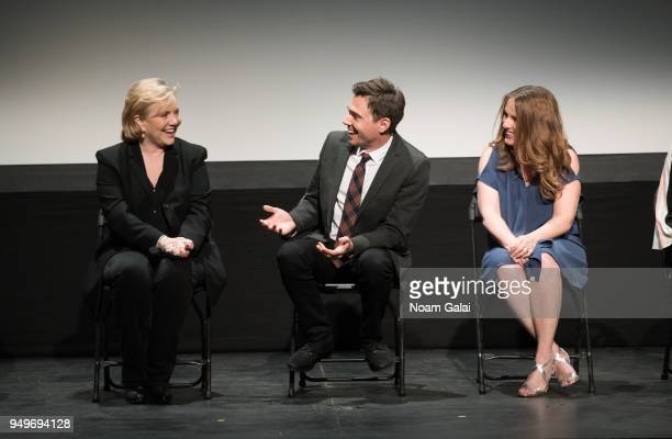 Susan Stroman Ozzy Inguanzo and Amanda Spain attend the Bathtubs Over Broadway screening during 2018 Tribeca Film Festival at BMCC Tribeca PAC on...