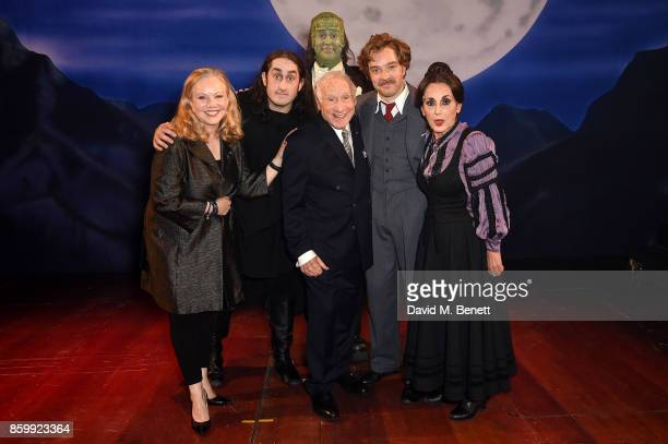 Susan Stroman Ross Noble Shuler Hensley Mel Brooks Hadley Fraser and Lesley Joseph attend the press night performance of Mel Brooks' Young...