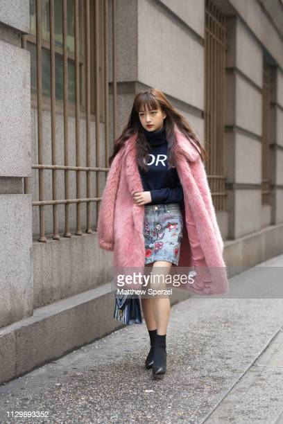 Susan Sue is seen on the street during New York Fashion Week AW19 wearing Michael Kors on February 13 2019 in New York City