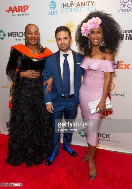 Susan Taylor Moana Luu wearing dress by House of CB attend For the Love of Our Children National CARES Mentoring Movement Gala at Ziegfeld Ballroom