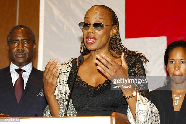 Susan Taylor of Essence Magazine during BET National Urban League and American Red Cross Announce Hurricane Katrina Benefit Telethon at American Red...