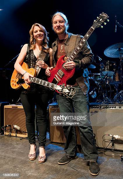 Susan Tedeschi and Derek Trucks after their performance at Shepherd's Bush Empire on June 29 2011 in London