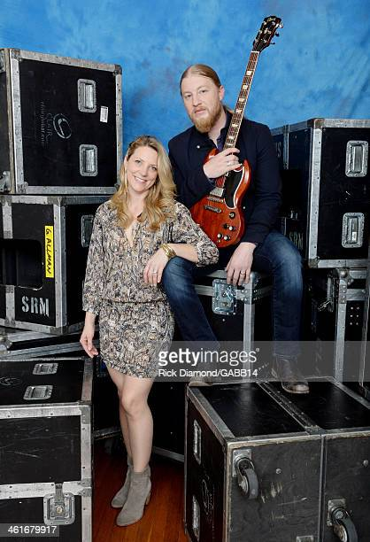 Susan Tedeschi and Derek Trucks poses for a portrait at All My Friends Celebrating the Songs Voice of Gregg Allman at The Fox Theatre on January 10...