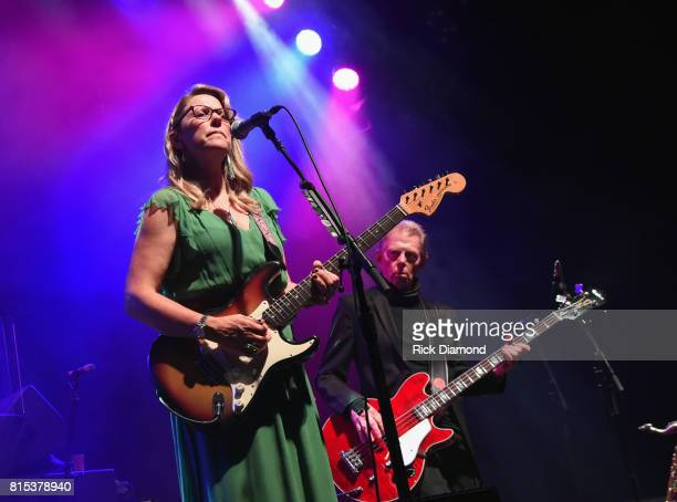 Susan Tedeschi is joined on stage by Jack Casady during the Wheels Of Soul 2017 Tour Featuring Tedeschi Trucks Band With The Wood Brothers and Hot...
