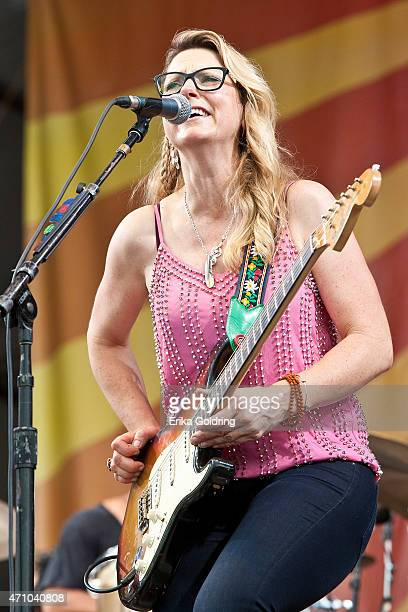 Susan Tedeschi of Tedeschi Trucks Band performs at Fair Grounds Race Course on April 24 2015 in New Orleans Louisiana