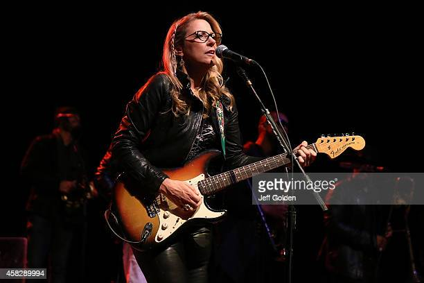 Susan Tedeschi of Tedeschi Trucks Band performs at The Greek Theatre on November 1 2014 in Los Angeles California