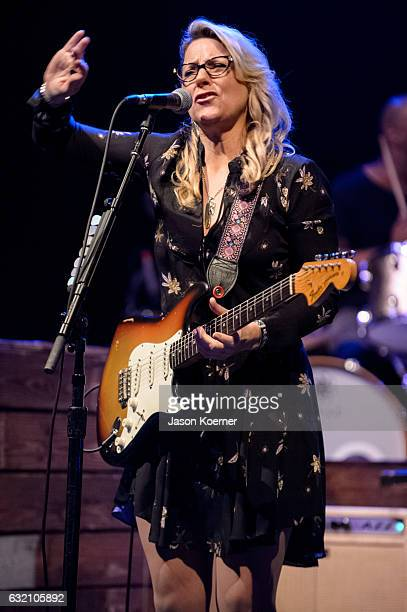 Susan Tedeschi of the Tedeschi Trucks Band performs on stage at Mizner Park Amphitheater on January 15 2017 in Boca Raton Florida