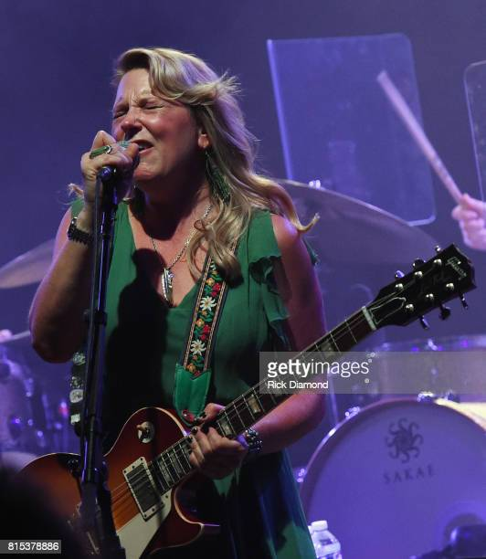 Susan Tedeschi performs during the Wheels Of Soul 2017 Tour Featuring Tedeschi Trucks Band With The Wood Brothers and Hot Tuna at The Fox Theatre on...