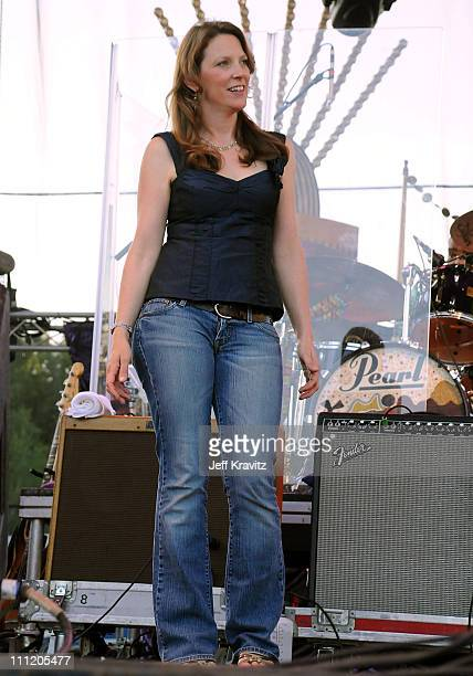 Susan Tedeschi performs on the Sherwood Court Stage during the Rothbury Music Festival 08 on July 5 2008 in Rothbury Michigan