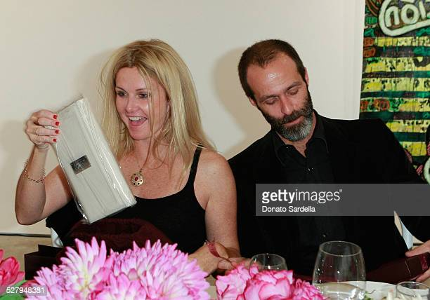 Susan Traylor and Roman Alonso attend the Vogue and Mulberry Host Dinner to Celebrate Alexandra Grant Exhibition on September 23 2008 in Los Angeles...