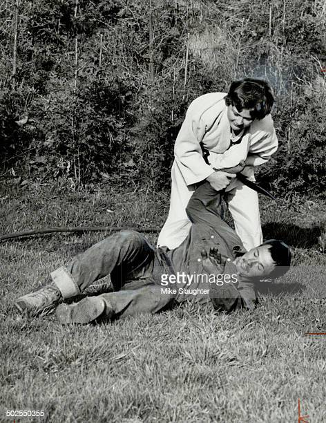 Susan Ulrich 18 of Courtice the best woman judo expert in North and South America is throwing her brother Breandon 20 The 5foot 123pound student won...