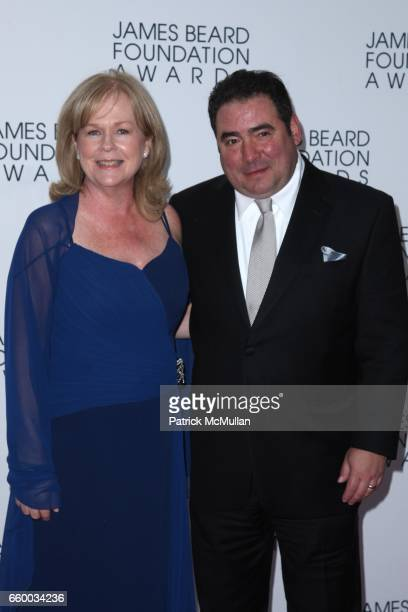 Susan Ungaro and Emeril Lagasse attend The 2009 JAMES BEARD FOUNDATION AWARDS at Avery Fisher Hall at Lincoln Center on May 4 2009 in New York City