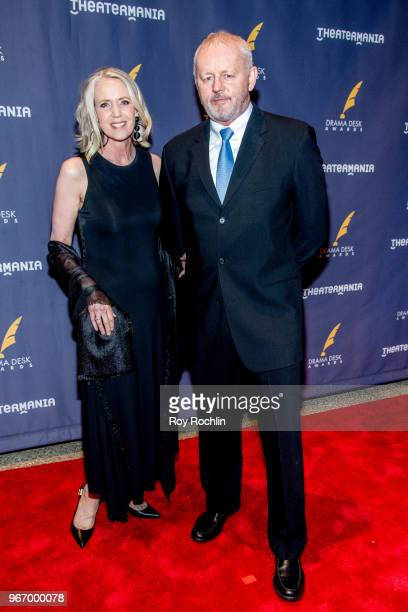 Susan Wheeler Duff and David Morse attend the 2018 Drama Desk Awards arrivals at Anita's Way on June 3 2018 in New York City