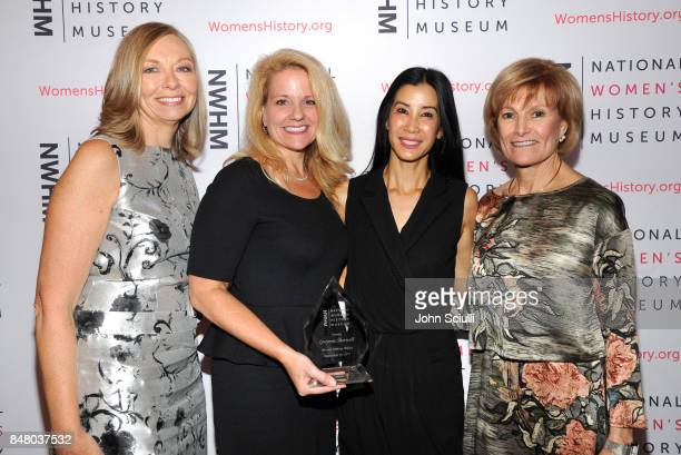 Susan Whiting Gwynne Shotwell Lisa Ling and Joan Wages onstage at the Women Making History Awards at The Beverly Hilton Hotel on September 16 2017 in...