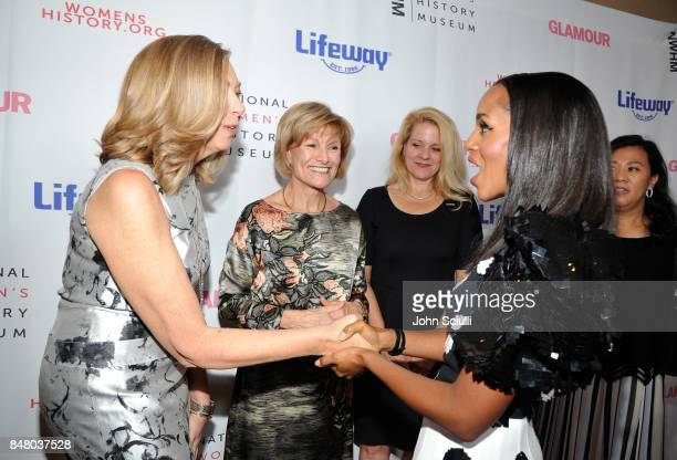 Susan Whiting Joan Wages Gwynne Shotwell and Kerry Washington at the Women Making History Awards at The Beverly Hilton Hotel on September 16 2017 in...