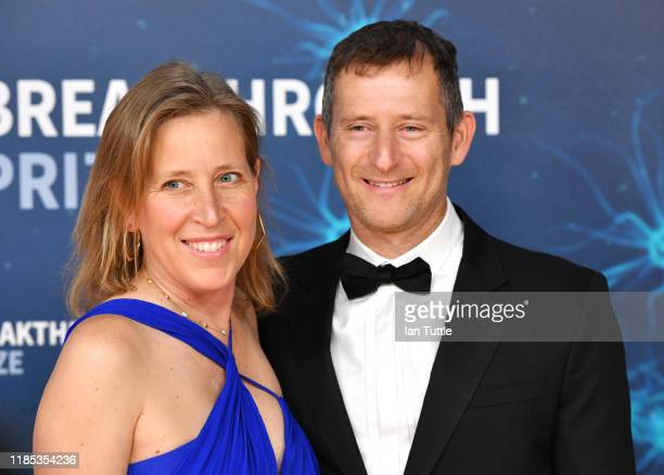 Susan Wojcicki and Dennis Troper attend the 2020 Breakthrough Prize Red Carpet at NASA Ames Research Center on November 03, 2019 in Mountain View,...