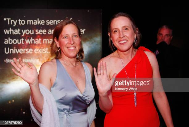Susan Wojcicki and Janet Wojcick attend the 2019 Breakthrough Prize at NASA Ames Research Center on November 4, 2018 in Mountain View, California.